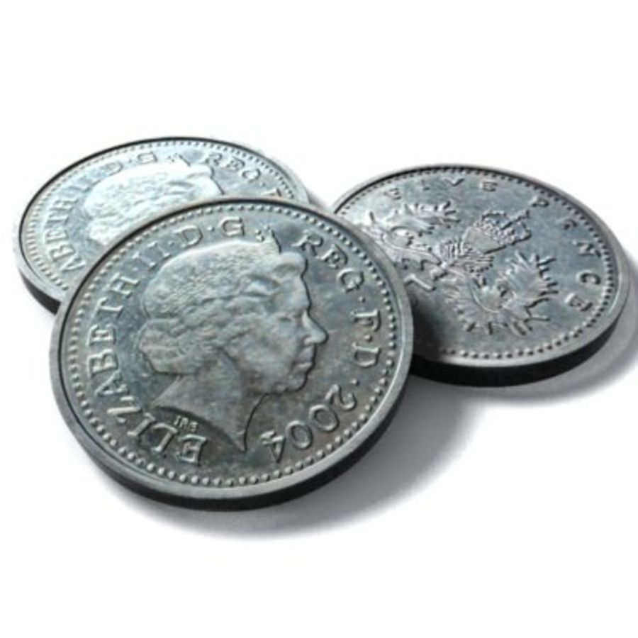 5pence 2004 royalty-free 3d model - Preview no. 2