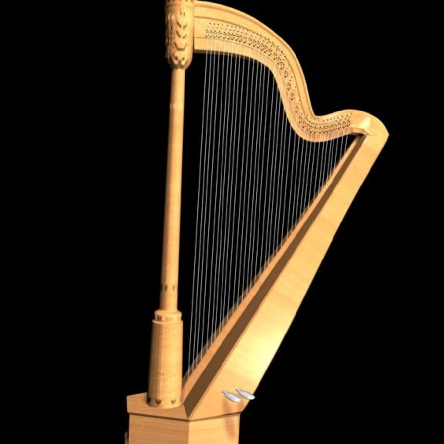 Clasical Harp royalty-free 3d model - Preview no. 1