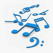Musiknoten 3D 3d model