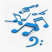 Music Notes 3D 3d model