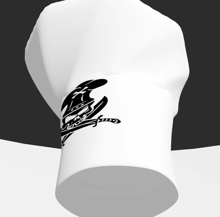 kapelusz szefa kuchni royalty-free 3d model - Preview no. 2