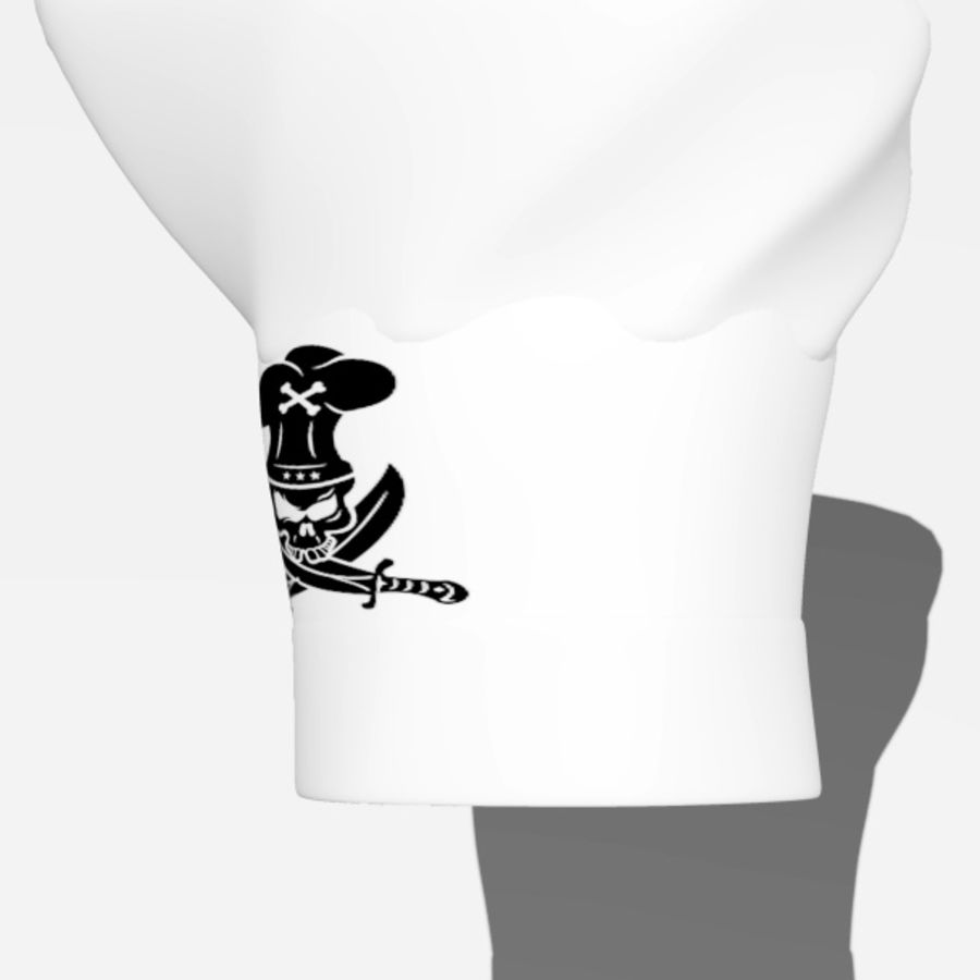 chef hat royalty-free 3d model - Preview no. 9