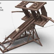 Ballista XXL, Textured, Low Poly 3d model