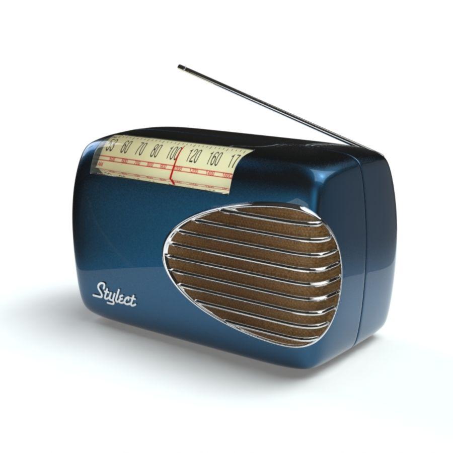 Retro Radio royalty-free 3d model - Preview no. 2