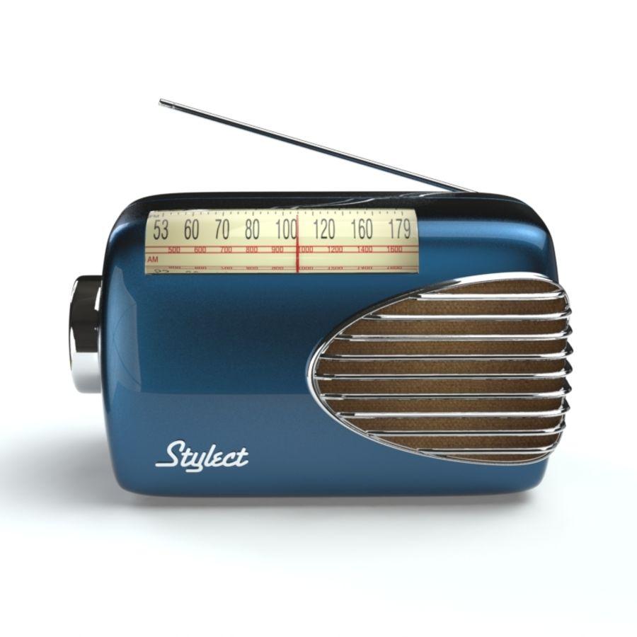 Retro Radio royalty-free 3d model - Preview no. 1