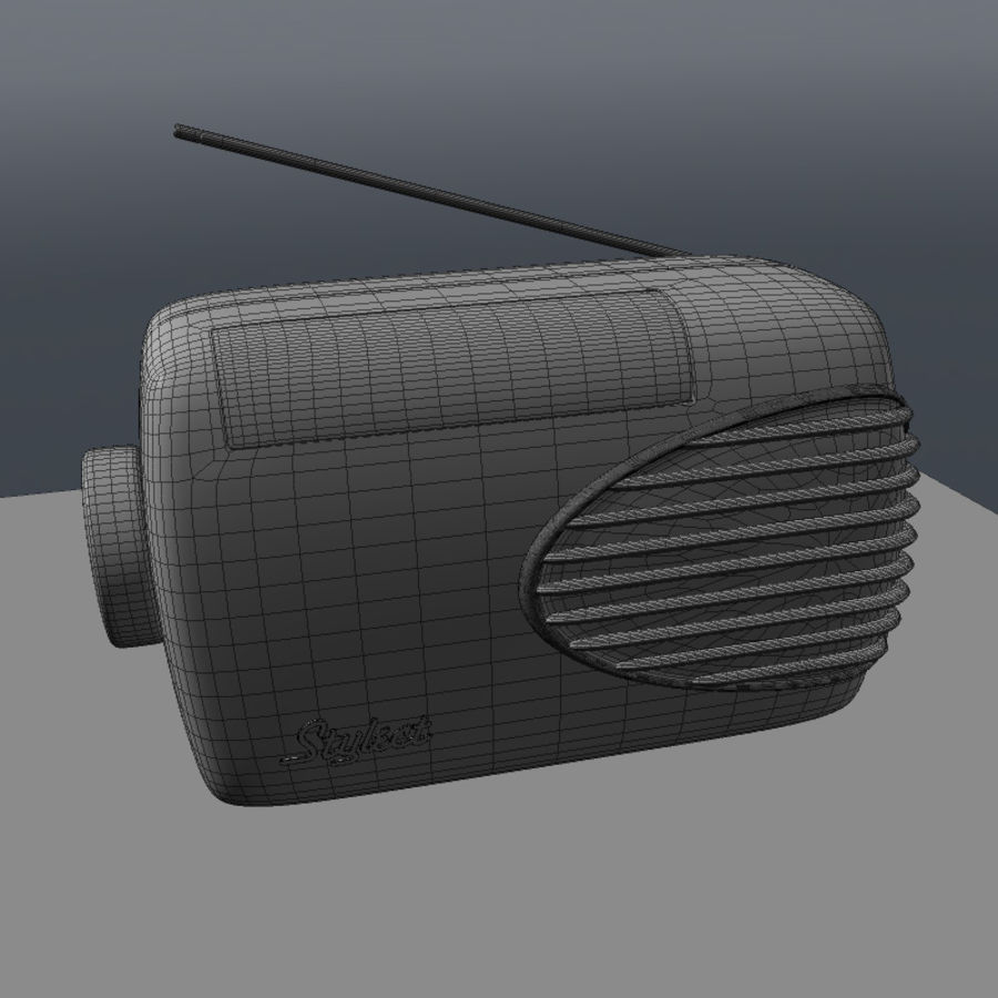 Retro Radio royalty-free 3d model - Preview no. 5