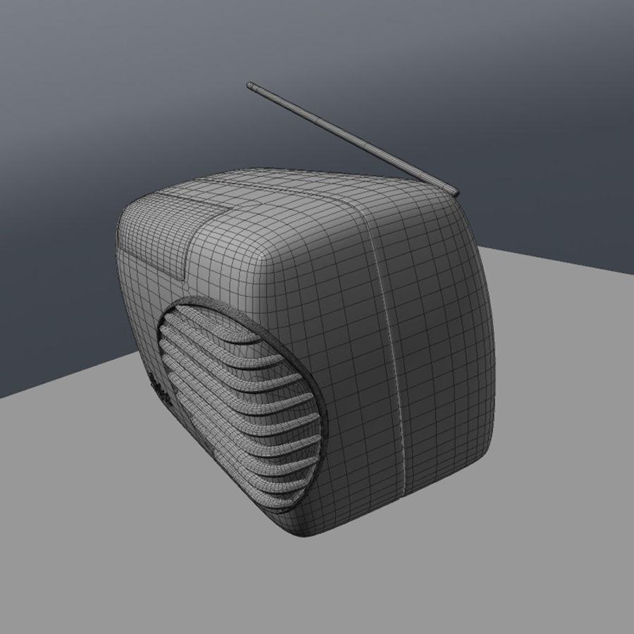 Retro Radio royalty-free 3d model - Preview no. 6