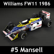 Williams Fw11 3d model