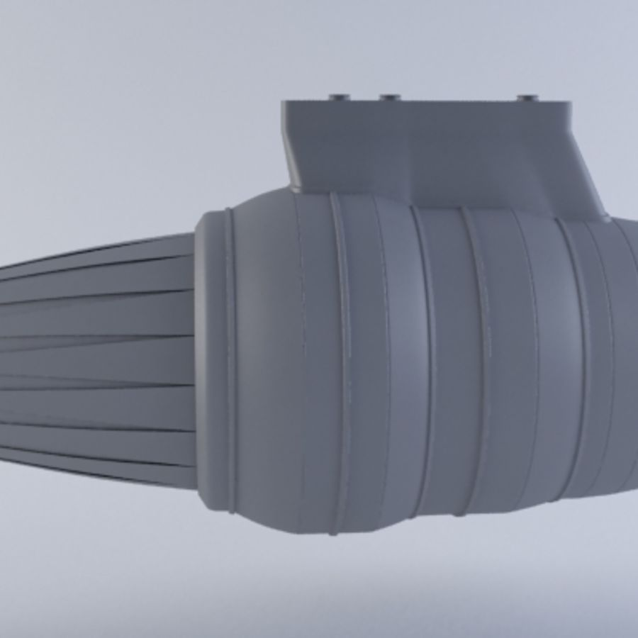 Motor a jato MKVII royalty-free 3d model - Preview no. 8