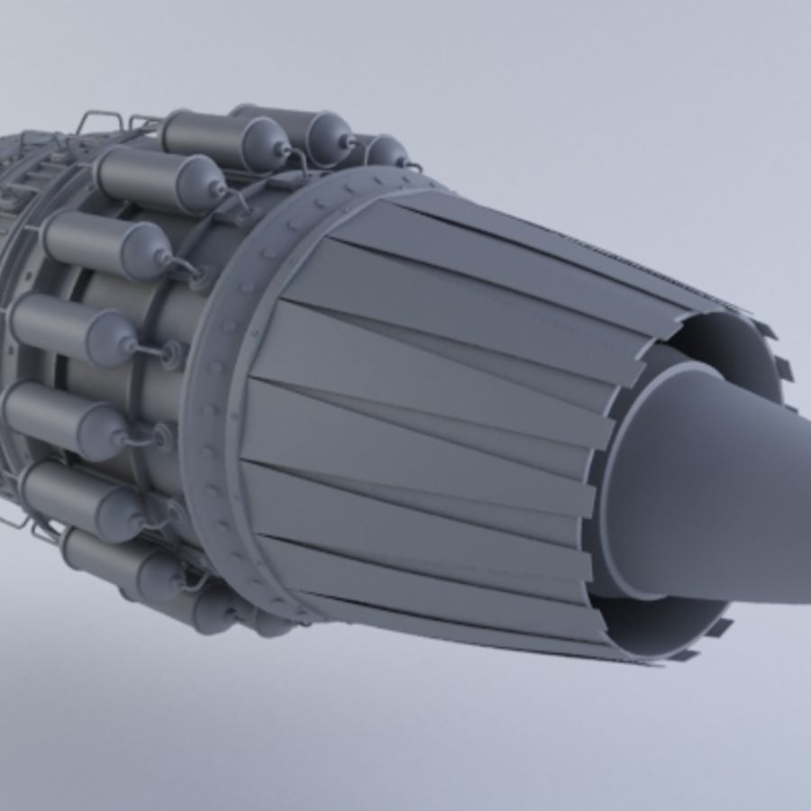 Motor a jato MKVII royalty-free 3d model - Preview no. 4
