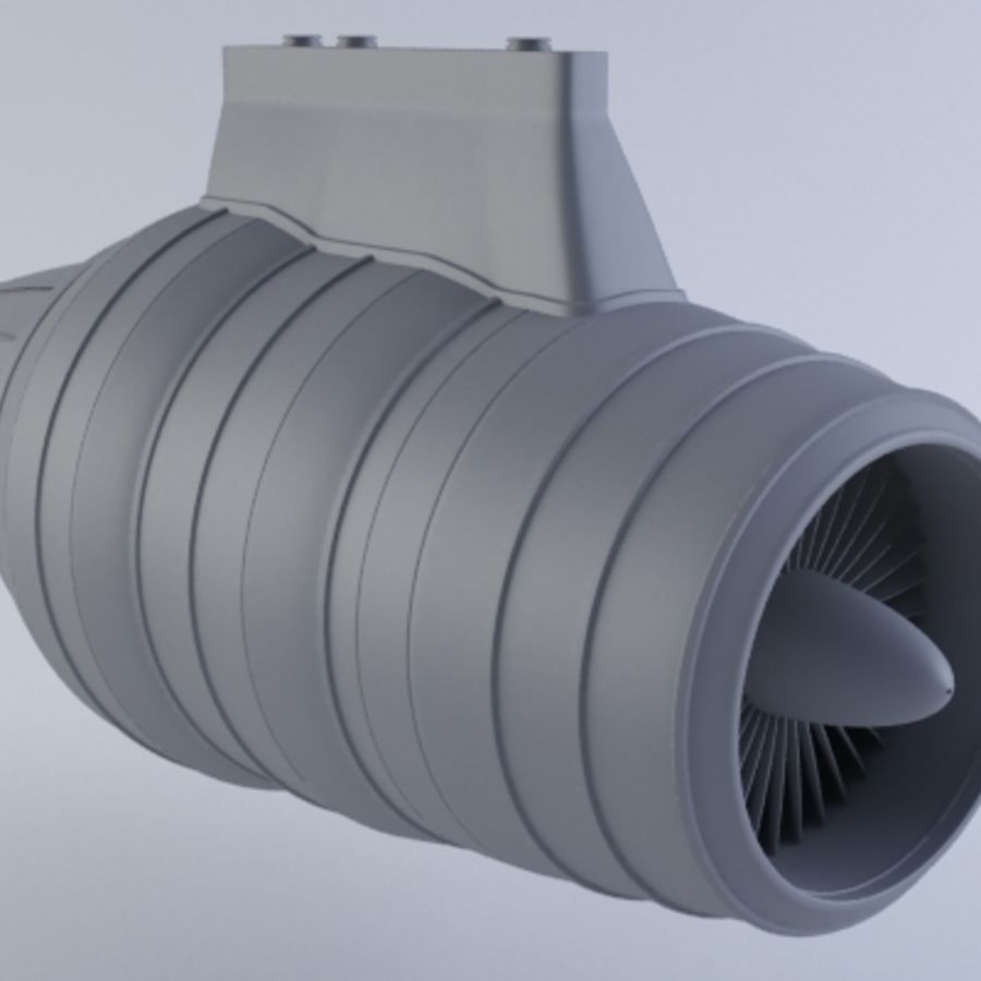 Motor a jato MKVII royalty-free 3d model - Preview no. 2