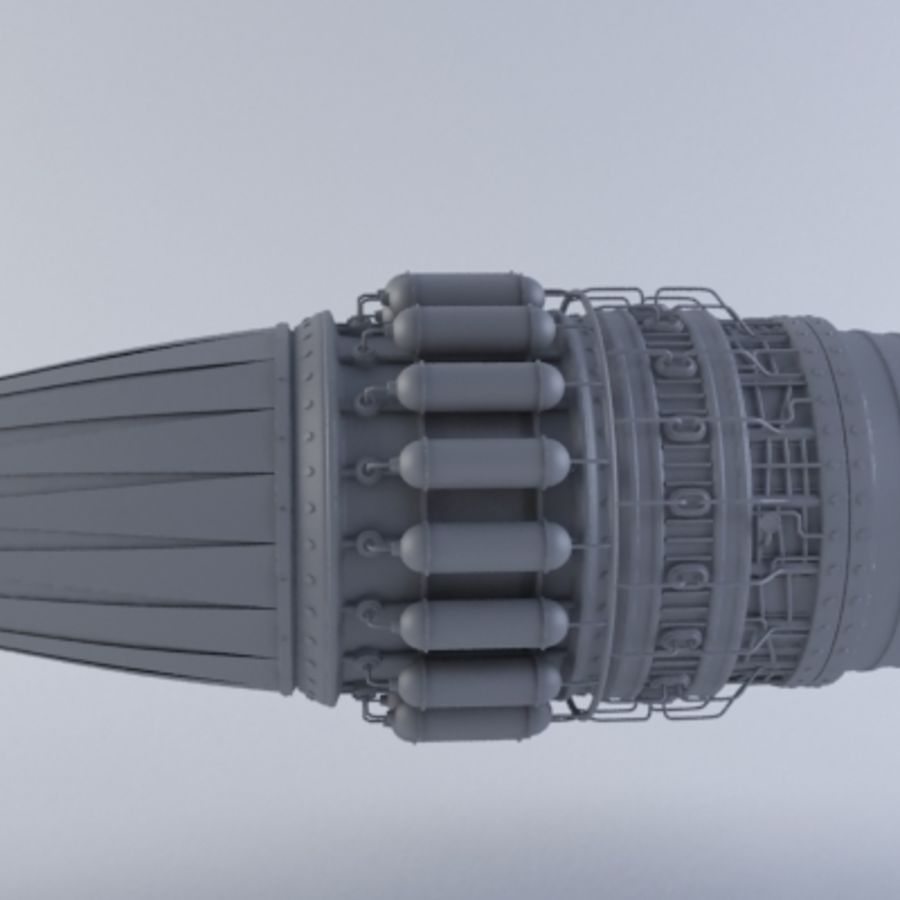 Motor a jato MKVII royalty-free 3d model - Preview no. 7