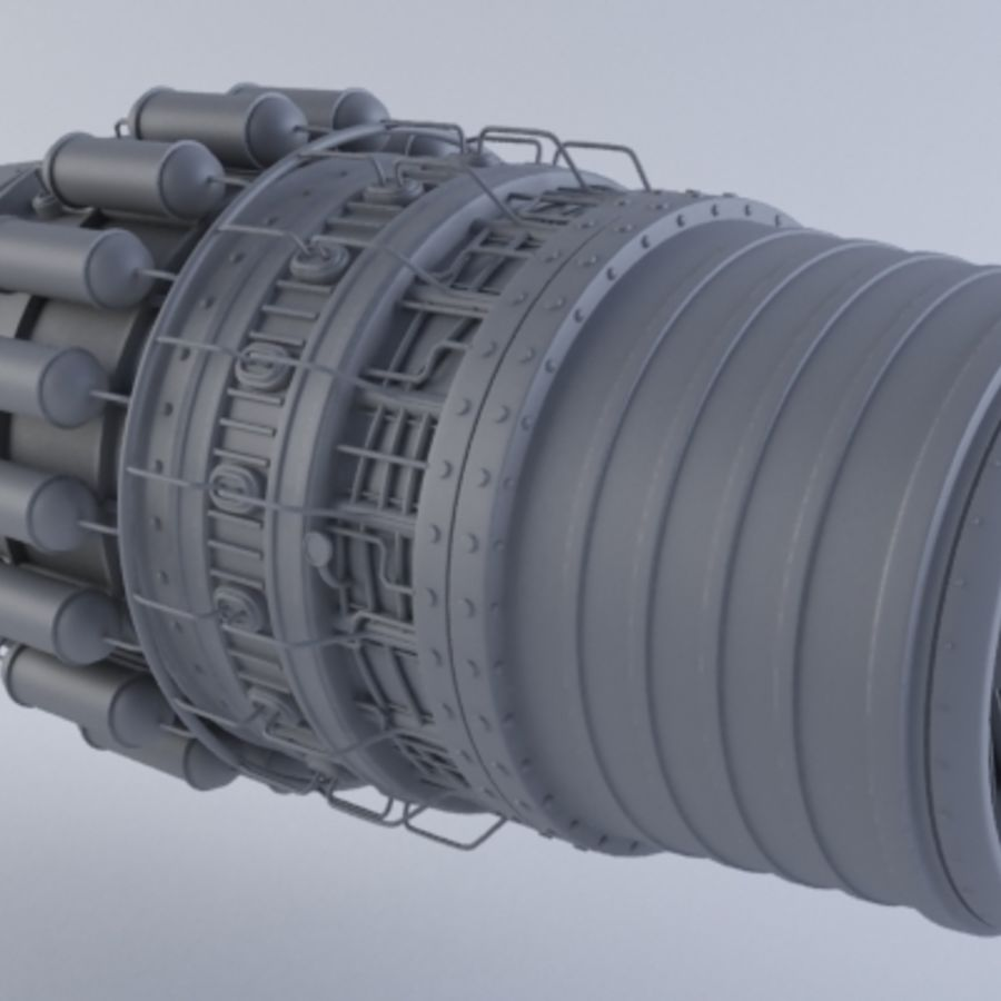 Motor a jato MKVII royalty-free 3d model - Preview no. 3