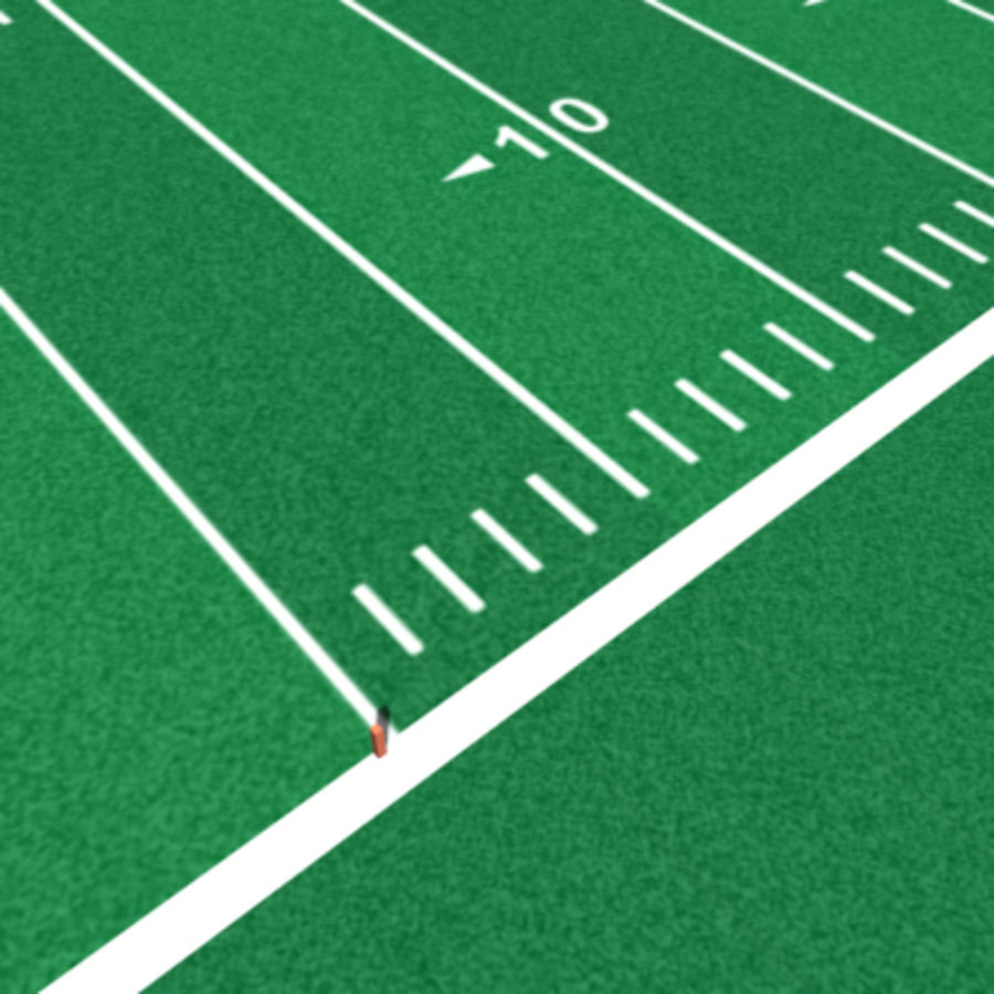 Football field royalty-free 3d model - Preview no. 9