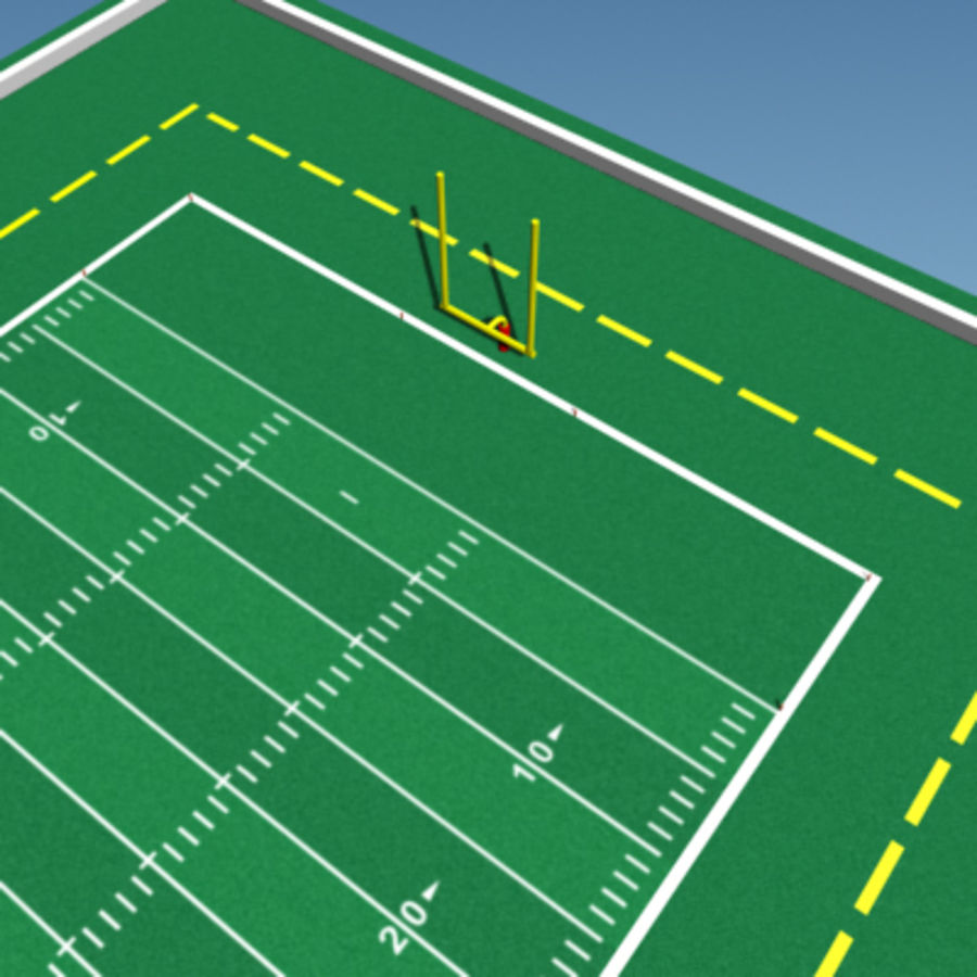 Football field royalty-free 3d model - Preview no. 7