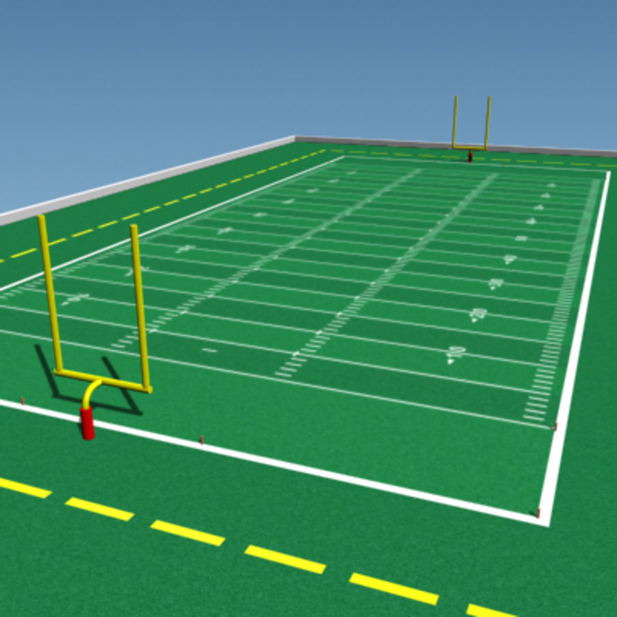 Football field royalty-free 3d model - Preview no. 1