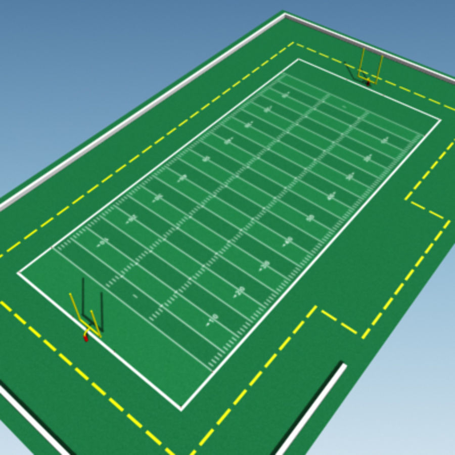 Football field royalty-free 3d model - Preview no. 6