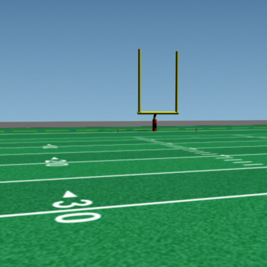 Football field royalty-free 3d model - Preview no. 4
