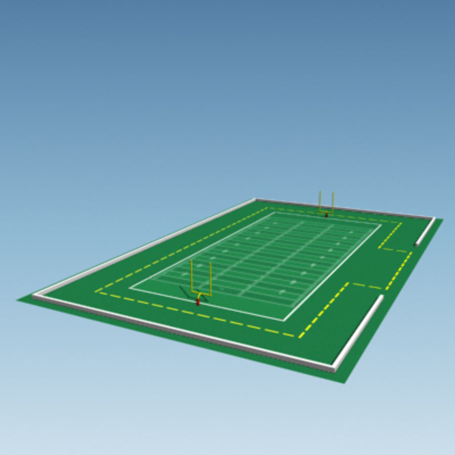Football field royalty-free 3d model - Preview no. 5