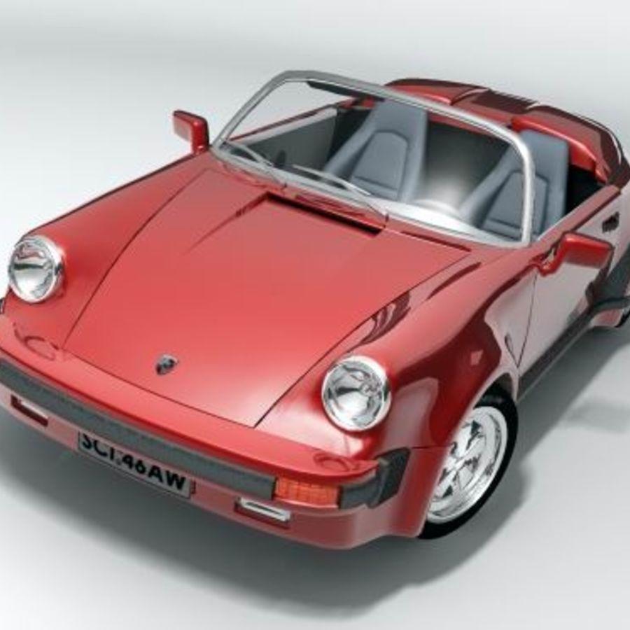 Porsche 911 Speedster classic 1980 royalty-free 3d model - Preview no. 1