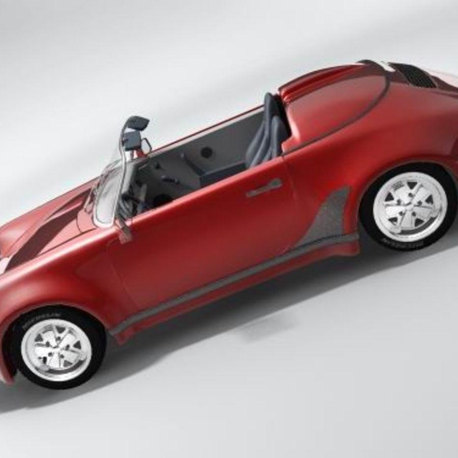 Porsche 911 Speedster classic 1980 royalty-free 3d model - Preview no. 6