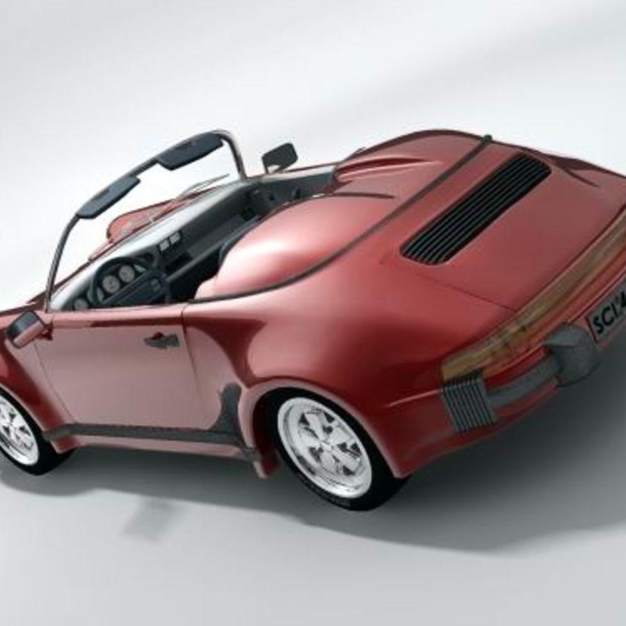 Porsche 911 Speedster classic 1980 royalty-free 3d model - Preview no. 5