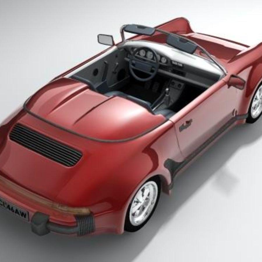 Porsche 911 Speedster classic 1980 royalty-free 3d model - Preview no. 4