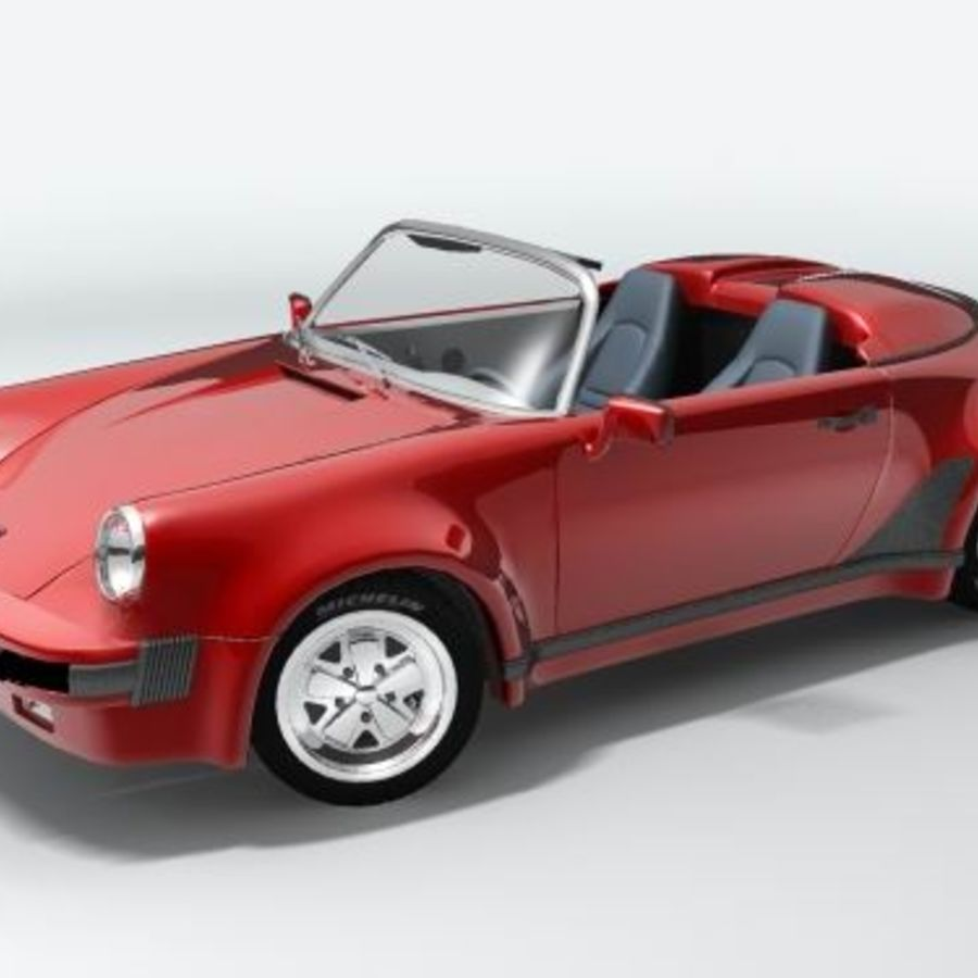 Porsche 911 Speedster classic 1980 royalty-free 3d model - Preview no. 2