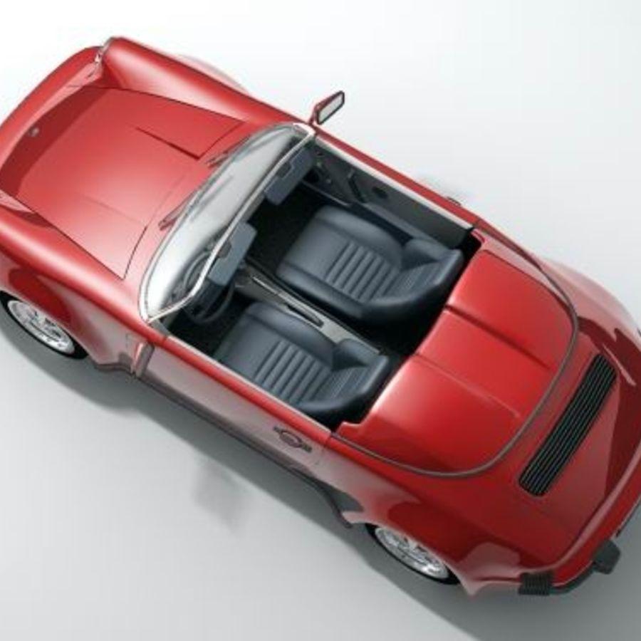 Porsche 911 Speedster classic 1980 royalty-free 3d model - Preview no. 3