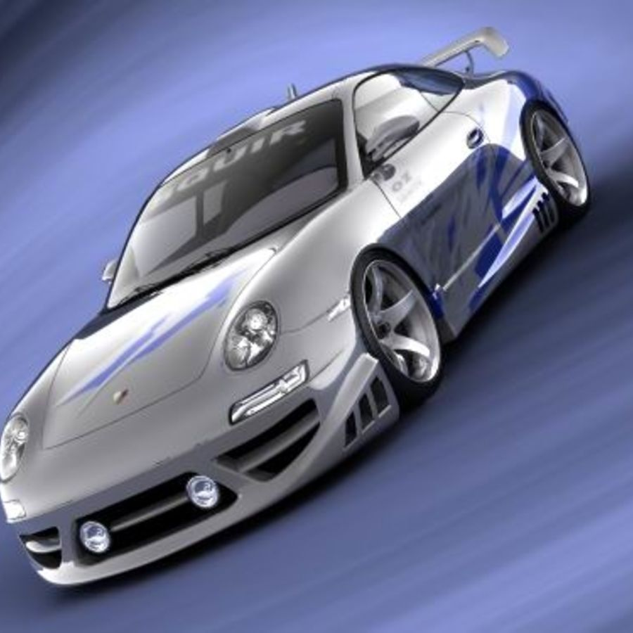Porsche 911 996 Tuning royalty-free 3d model - Preview no. 8