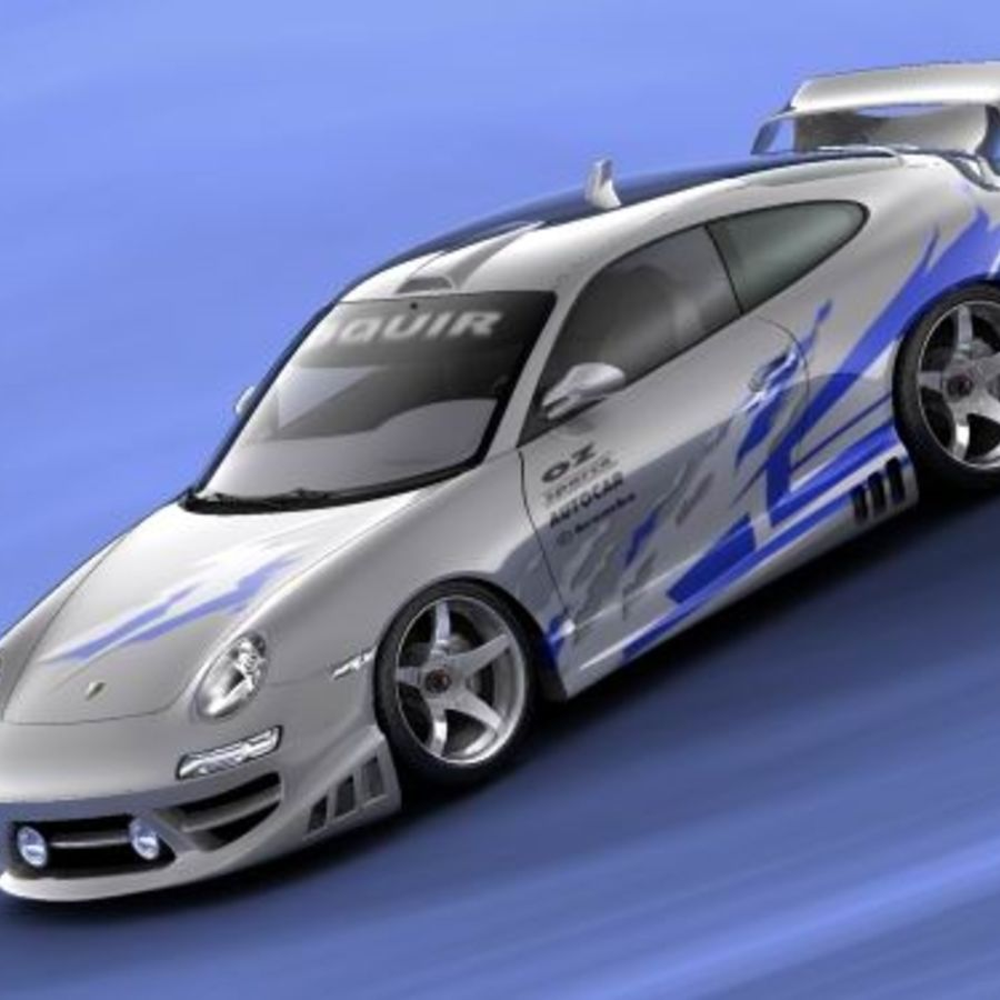 Porsche 911 996 Tuning royalty-free 3d model - Preview no. 1
