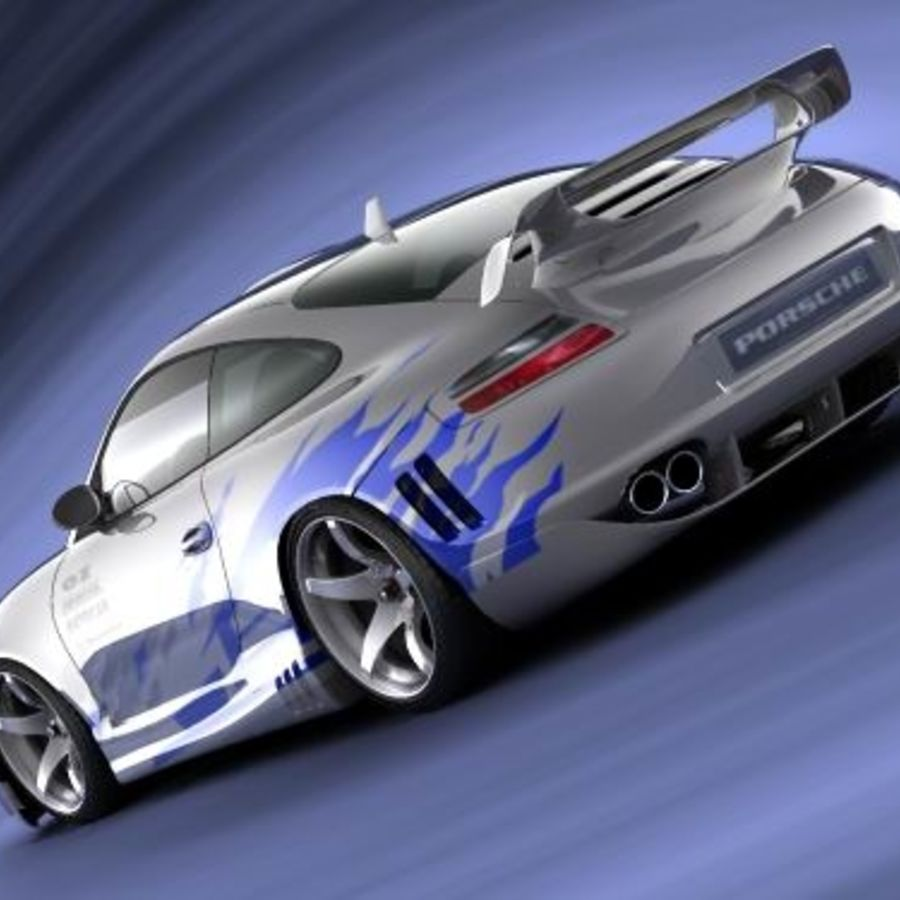 Porsche 911 996 Tuning royalty-free 3d model - Preview no. 7
