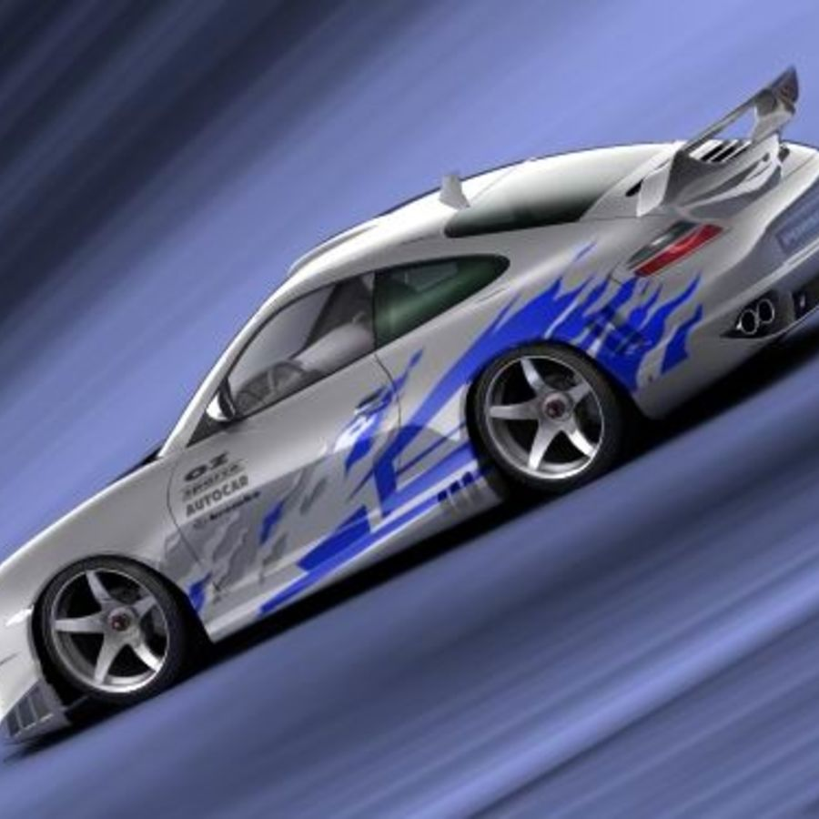 Porsche 911 996 Tuning royalty-free 3d model - Preview no. 5