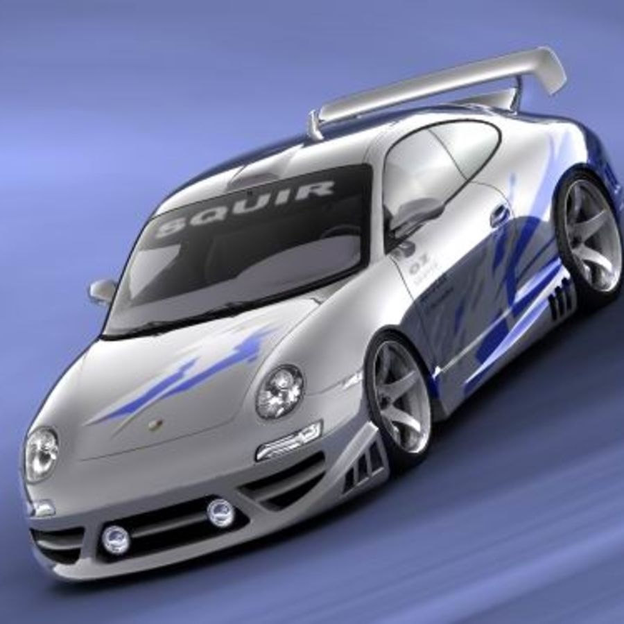 Porsche 911 996 Tuning royalty-free 3d model - Preview no. 2