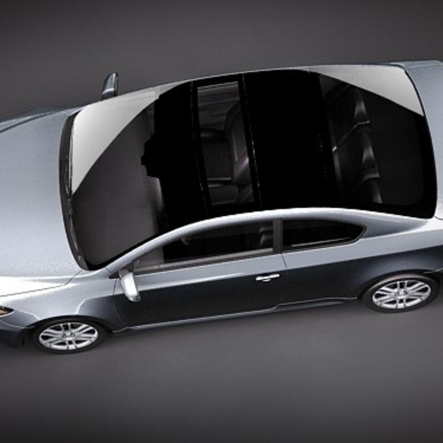 Scion tC royalty-free 3d model - Preview no. 8