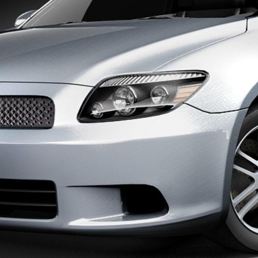 Scion tC royalty-free 3d model - Preview no. 3