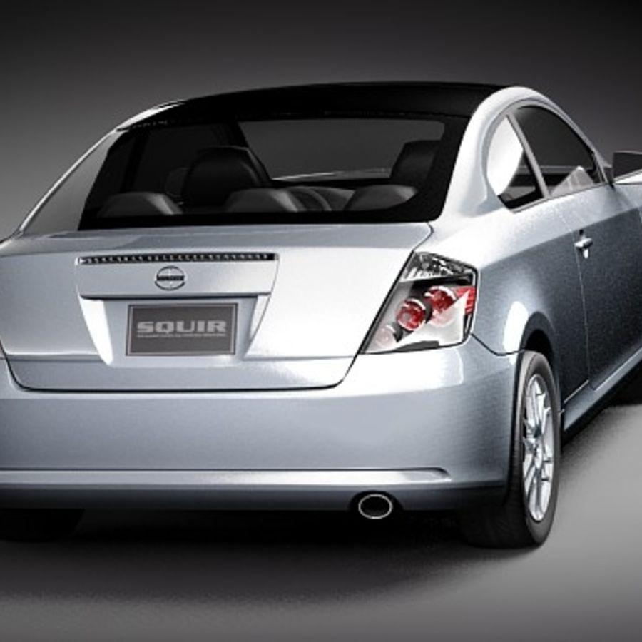Scion tC royalty-free 3d model - Preview no. 6