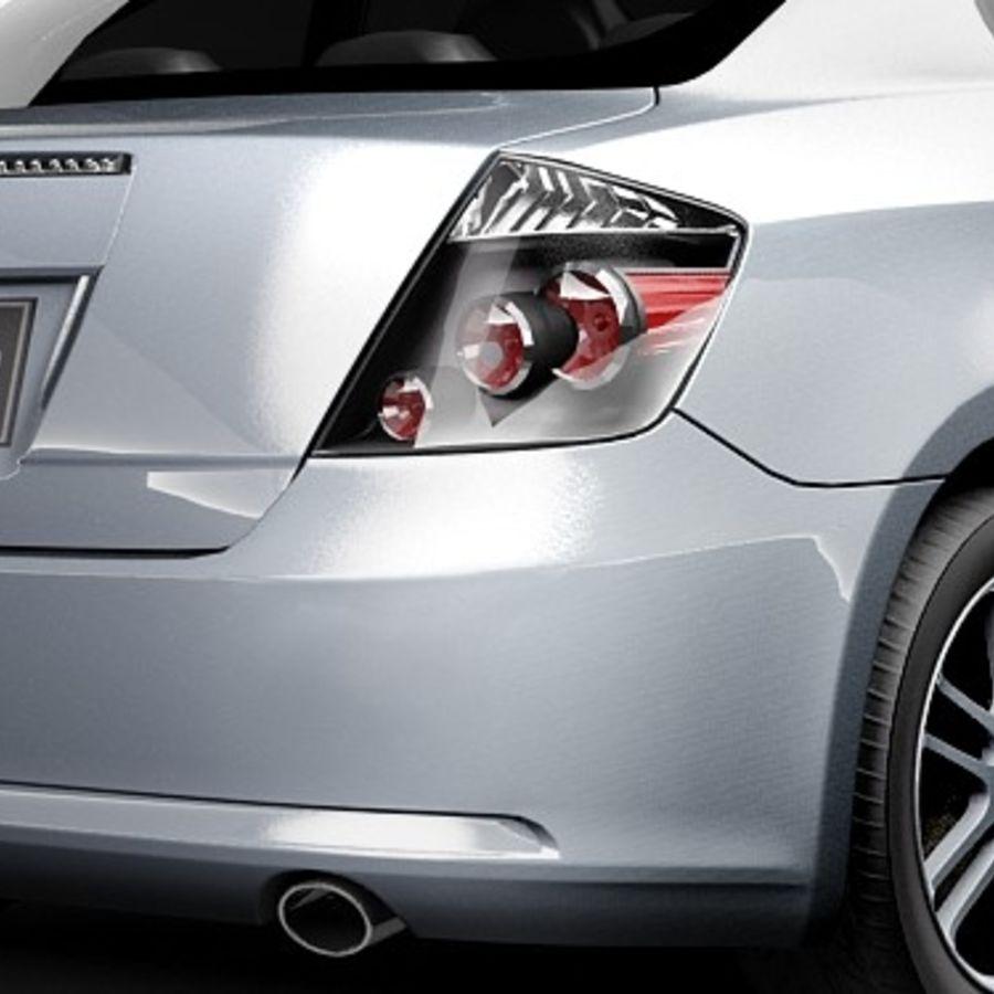 Scion tC royalty-free 3d model - Preview no. 4