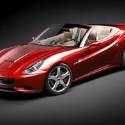Ferrari California midpoly 3d model