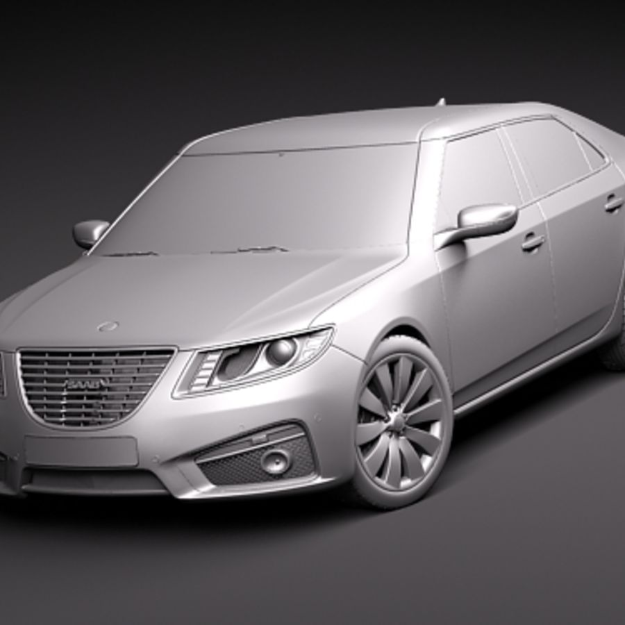 サーブ9〜2010 royalty-free 3d model - Preview no. 7