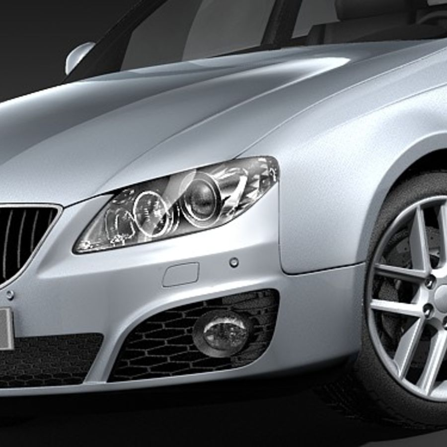 Seat Exeo royalty-free 3d model - Preview no. 3