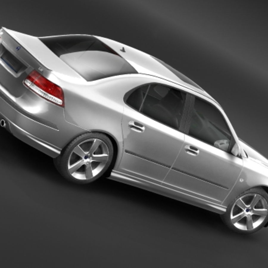 Saab 9-3 2006 royalty-free 3d model - Preview no. 4