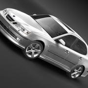 Saab 9-3 2006 modelo 3d