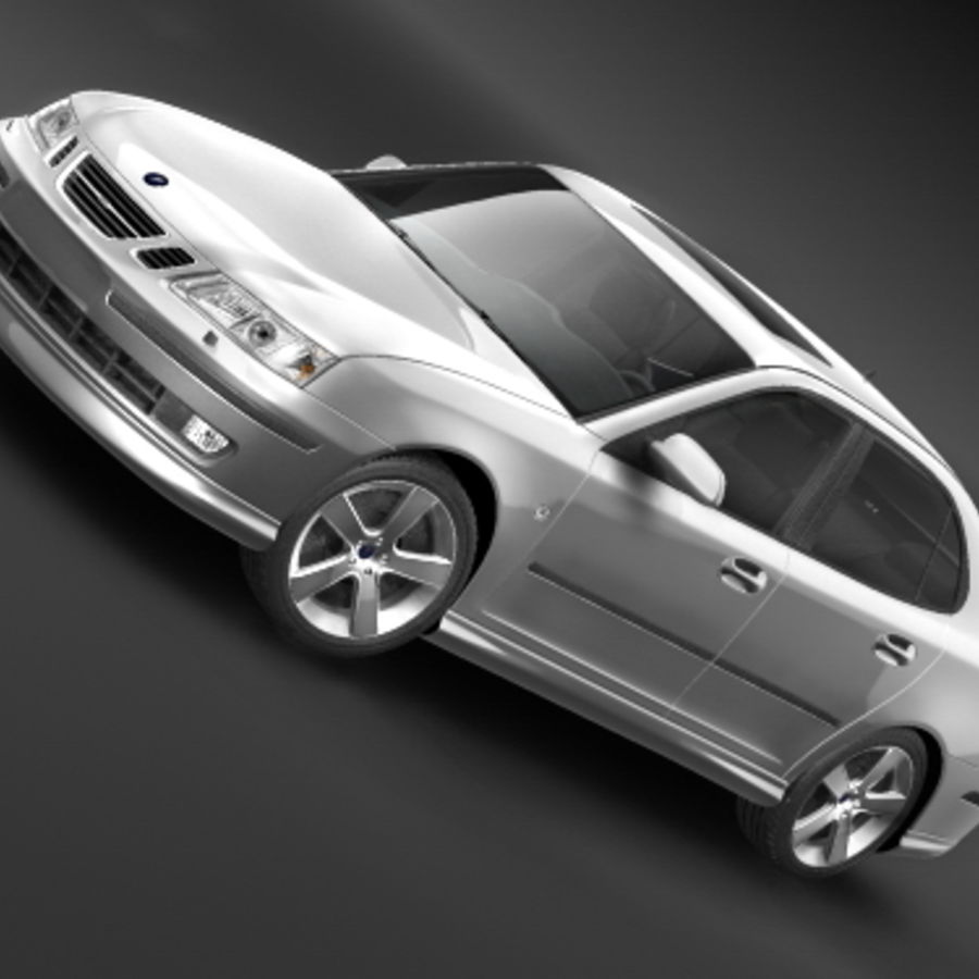 Saab 9-3 2006 royalty-free 3d model - Preview no. 1