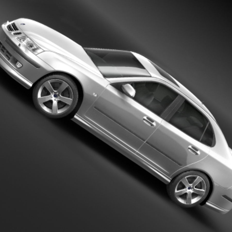Saab 9-3 2006 royalty-free 3d model - Preview no. 2