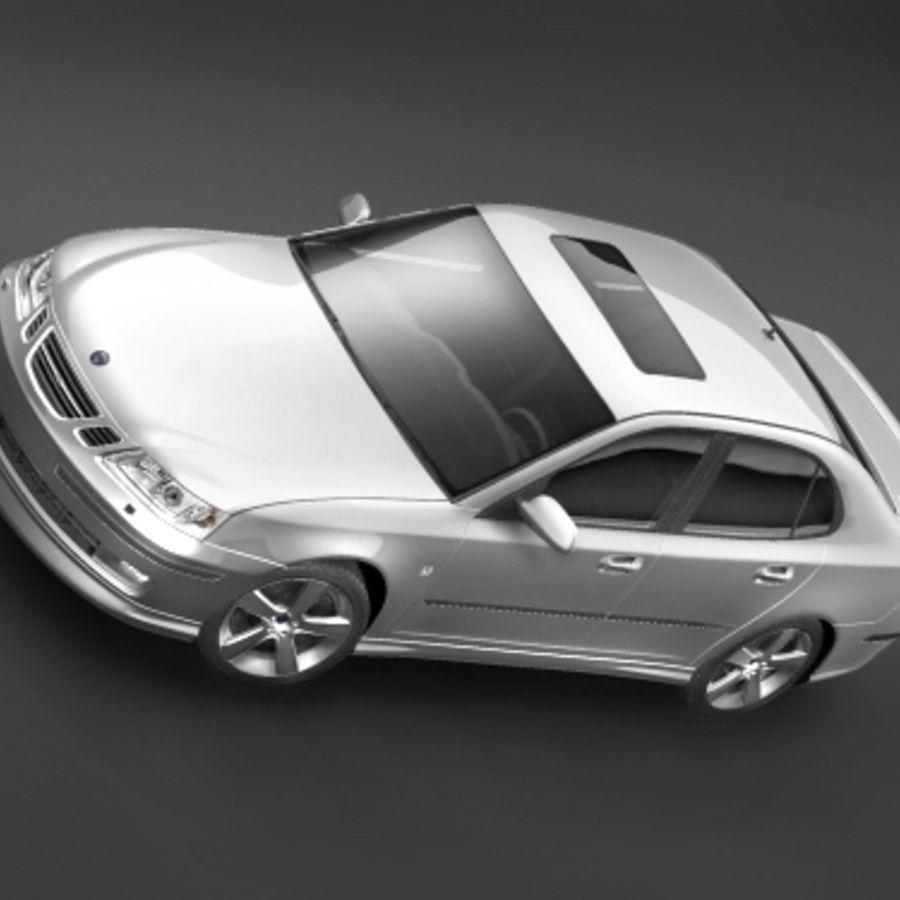 2006年サーブ9〜3 royalty-free 3d model - Preview no. 3