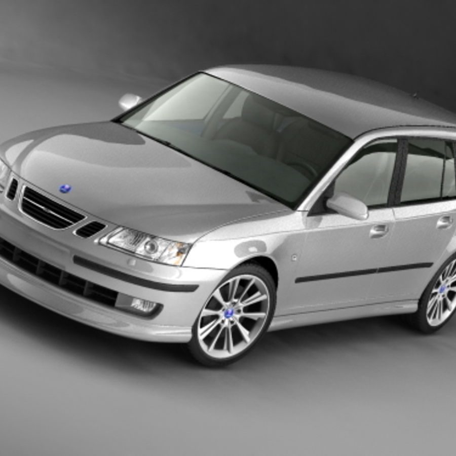 Saab 9-3 sportcombi 2006 royalty-free 3d model - Preview no. 3
