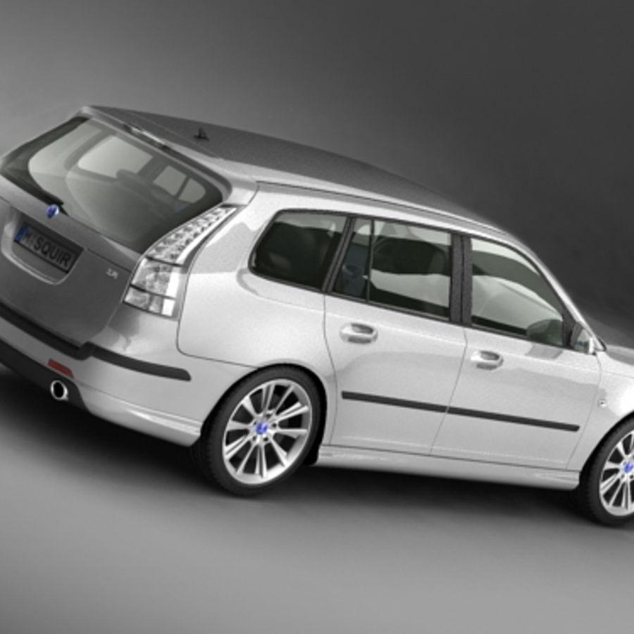 サーブ9-3 sportcombi 2006 royalty-free 3d model - Preview no. 5