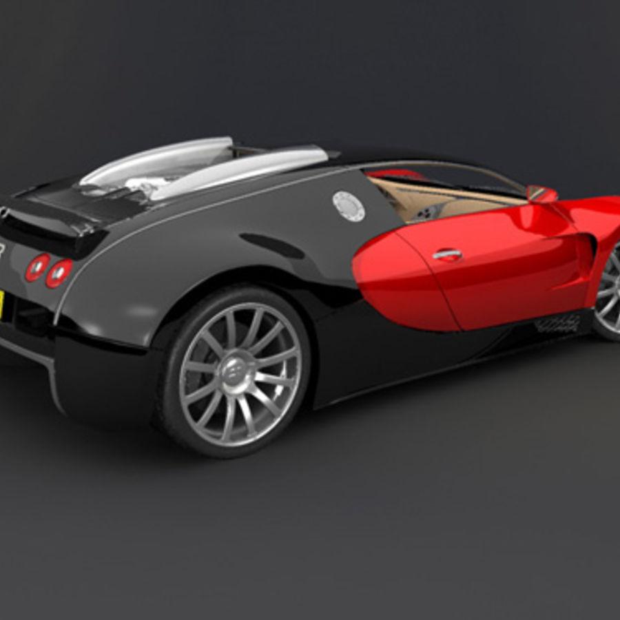 bugatti veyron max royalty-free 3d model - Preview no. 3