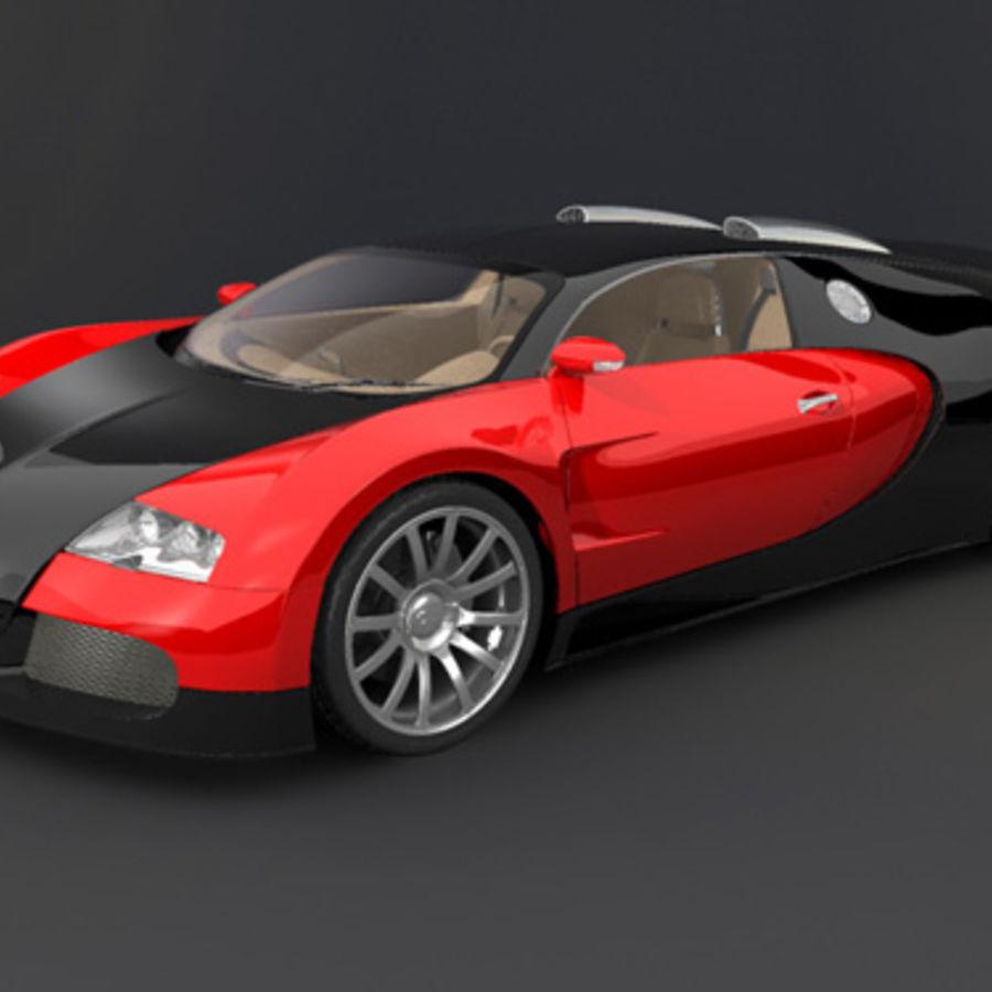 bugatti veyron max royalty-free 3d model - Preview no. 4